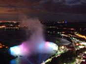 English: Niagra Falls at night