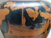Odysseus and the Sirens. Detail from an Attic red-figured stamnos, ca. 480-470 BC. From Vulci.