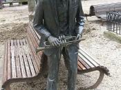 bronze statue dedicated to Wynton Marsalis at the Parque de la Florida, Vitoria-Gasteiz, Spain