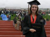 English: Laurie at her high school graduation