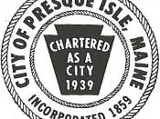 Official seal of Presque Isle, Maine