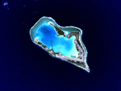 Wake Island is a volcanic island that has become an atoll.