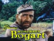 Screenshot of Humphrey Bogart from the trailer for the film The African Queen.