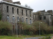 English: Richmond District Lunatic Asylum, Grangegorman Mental Hospital, St. Brendan's Psychiatric Hospital. Grangegorman, Dublin 7, Ireland. This is the south wing, which is the only remaining wing - of the original asylum building. Just south of it lies