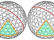 two very similar icosahedron golf ball designs.