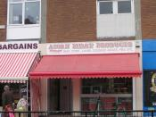 English: Acorn Meat Products - Front Street