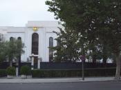 English: East façade of Russian Embassy in Madrid (Spain). Español: Fachada este de la Embajada de Rusia en Madrid (España).