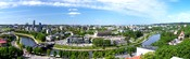 Panorama of Vilnius downtown (Lithuania). Polski: Panorama z Wieży Giedymina na nowoczesne zabudowania Wilna (Litwa).