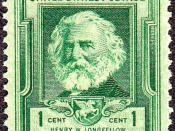 English: US commemorative postage stamp of Henry Wadsworth Longfellow, 1940 issue. Category:Famous Americans Issues Category:Henry Wadsworth Longfellow Category:1940 stamps Category:Men on stamps Category:Stamps of the United States 1931-1940