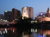 English: Newark, New Jersey at night