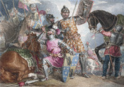 King Henry VI, part III, act II, scene III, Warwick, Edward, and Richard at the Battle of Towton (adjusted)
