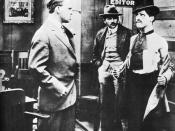Chaplin (Right) in his film debut Making a Living (1914)