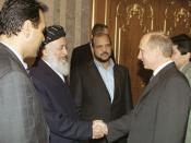 English: DUSHANBE. President Putin with former Afghan President Burhanuddin Rabbani. Русский: ДУШАНБЕ. С Президентом Афганистана Бурхануддином Раббани.