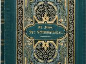 Storm, Theodor: Der Schimmelreiter. Novelle. Berlin: Paetel 1888, 222 Seiten, Erstausgabe Wilpert/Gühring² 49. Grünes Orig.-Leinen.[Historismus-]Buchschmuck in Gold- und Schwarzprägung auf Vorderdeckel und Rücken.