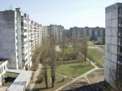 Residential area in northwestern Kursk city, Russia