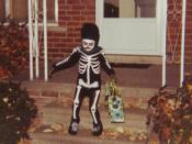 Photo of a Halloween trick-or-treater, Redford, Michigan, United States.