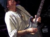 Carlos Santana during a concert in 2005