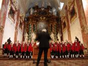 English: Wilten Boys' Choir in St. Rochus Church, Vienna, Austria Deutsch: Wiltener Sängerknaben in der Rochuskirche in Wien
