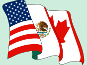 English: A North American Free Trade Agreement (NAFTA) Logo. Español: Logotipo del Tratado de Libre Comercio de América del Norte (TLCAN). Français : Logo de Accord de libre-échange nord-américain (ALENA).