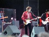 English: Bob Dylan at Lida Festival in Stockholm, Sweden, in 1996. Photo by Henryk Kotowski.