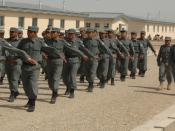 MAZAR-E-SHARIF, Afghanistan (March 25, 2010) - Afghan National Civil Order Police/Afghan Gendarmerie Force Training Center graduates parade in formation honoring Mohammad Atta Noor, Governor of the Province of Balkh where 193 trainees graduated in the cen