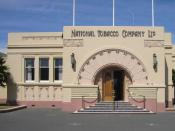 English: National Tobacco Company Ltd building in Napier, New Zealand. New Zealand Historic Places Trust Register number: 1170.