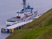 English: The US Coast Gaurd Cutter Alex Haley Docked in Dutch Harbor Alaska