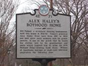 Historical marker in front of Alex Haley's boyhood home in Henning, Tennessee (2007)