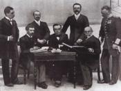 English: Members of the Olympic Committee at the Athens Olympic Games in 1896, Item part of: Archieves of the InternationalOlympic Committee; photography, reproduction, no re