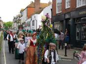 English: Jack's Wife, Jack in the Green Festival Every May Bank holiday Monday this parade is held as part of the Jack in the Green Festival.