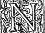Initial N from the 1st (1895) Henry Holt & Company edition of H. G. Wells' The Time Machine