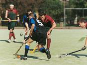 Field hockey game at Melbourne University.