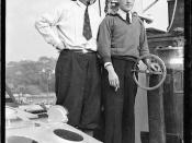 Count Felix Graf von Luckner with First Officer Paul Kause on board SEETEUFEL