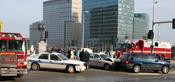 English: A traffic collision in Boston