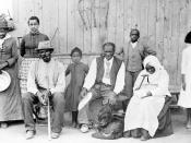 Tubman (far left), with Davis (seated, with cane), their adopted daughter Gertie (beside Tubman), Lee Cheney, John