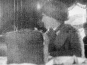 Grand Duchess Anastasia Nikolaevna of Russia aboard the Rus, the ship that ferried her to Yekaterinburg in May 1918. This is the last known photograph of Anastasia.