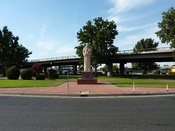 English: Garces Memorial Circle, named after Francisco Garcés, Bakersfield, California, USA.