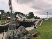English: Loch Ness monster sculpture, Fort Augustus.