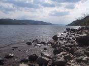 Loch Ness looking south, taken in May 2006.