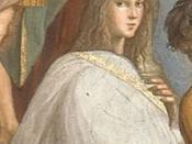 Detail from The School of Athens by Raffaello Sanzio, maybe an illustration of Hypatia