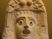 Dionysos mask, found in Myrina (now in Turkey). Terracotta, 2nd–1st centuries BC.