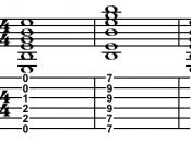 Open E major chord, E major barre chord, then open E major chord. About this sound Play open E-major chord arpeggio, then barre, then open ( help · info )