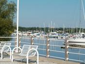 English: Boats in Frenchman's Bay by Millennium Square, Pickering
