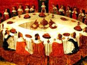 King Arthur and the Knights of the Round Table, surely is PD because of the age of the engraving - The Middle Ages