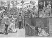 Scenes from the Illustrated London News of Arthur Sullivan's operatic adaptation of Ivanhoe.