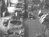 A production line of the Type 3 Chi-Nu tanks