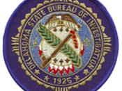 OSBI Special Agent patch