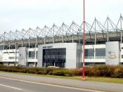 Pride Park, where Kinkladze played for Derby County between 2000 and 2003.