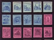 English: Church attendance stamps.