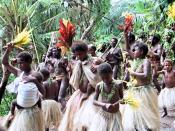 Women Dancing and Singing, Pentecost Island Vanuatu